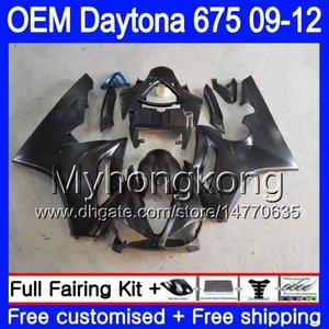 Injecção Flat preto For Triumph Daytona 675 09 10 11 12 Carroçaria 323HM.13 Daytona-675 Daytona675 Daytona 675 2009 2010 2011 2012 Carenagem