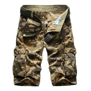 Камуфляж Camo Cargo Shorts Men 2019 New Mens вскользь шорты мужчина Сыпучие Работа Шорты Человек Military Короткие брюки Плюс Размер 29-44 MX190718