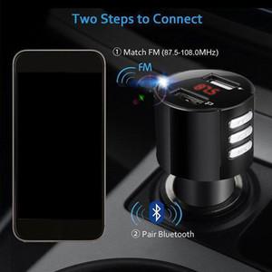 Светодиодный экран Bluetooth автомобиль USB зарядное устройство FM передатчик беспроводной Радио адаптер MP3 плеер прикуриватель