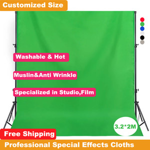 Qualidade Efeitos Especiais elevados para Film Photography Studio Background Thicker 3.2x2M Green Screen fotográfica contexto Photo Cotton-poliéster