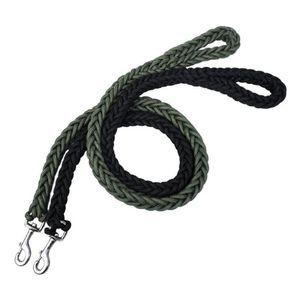 L / XL Super Strong Coarse Nylonhundeleine Armee-Grün Leinwand zweireihig Einstellbare Hundehalsband für große Hunde Supplies Medium