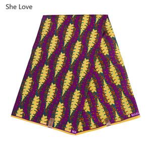Ella ama 1 yarda / lote lindo diseño de rábano Ankara tela de impresiones de cera de poliéster africano para el vestido de fiesta haciendo materiales de mosaico