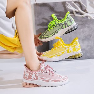Students Athletic Shoes Women's 2020 Spring Summer New Style Versatile Korean-style Casual Comfortable Fly Weaver Shoes