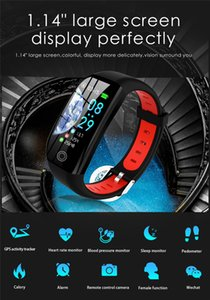 Smart Smart Pulsera Fitness Watch F21 Activity Tracker IP68 Distancia Monitor de presión arterial GPS Sleep Impermeable Banda Pulsera BDOPC