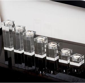 Accueil Décorations Candlestick Idée de mariage en cristal Bougeoir Table Bar Centerpieces Café Décorations