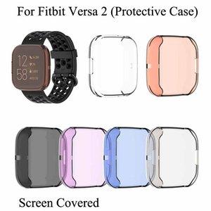 Per Fitbit Versa2 radura TPU Custodia protettiva intelligente Bracciale Versa 2 WristbandTransparent Unbreak guscio dello schermo ultra sottile pieno coperto