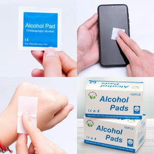 Rubbing Alcohol Pads Disposable Disinfecting Dipe Wet Wipe Household Disinfectant Hand Sanitizer Wipes Kills 99% germ Instant Sterilizing