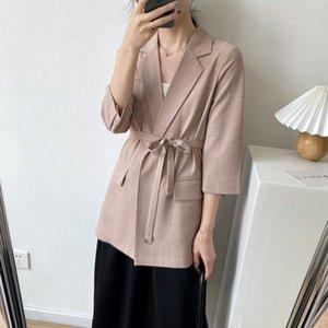 HXJJP Primavera 2020 nueva versión delgada de la textura súper normal, chaqueta de la chaqueta de la manera occidental de las mujeres