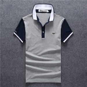 19SS haute qualité en crocodile Polo Shirt Hommes Coton solide Shorts Polo Eté Casual homme polo homme T-shirts Hommes polos Chemises polo