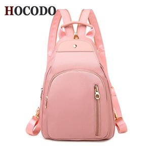 HOCODO Fashion Ladies Small Backpack Oxford Waterproof Multi-Function Women Backpack Solid Travel Shoulder Bag Mochila Feminina