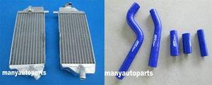 Per Yamaha YZ250F YZF250 2010-2013 2011 2012 2013 in alluminio del radiatore blu Silicone Hose