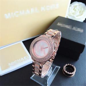 Mulheres Michael Kors relógios amantes da moda quartzo relógio de moda cor deslumbrante galvanizados luxo projeto de discagem estrela carta Relógio dos homens
