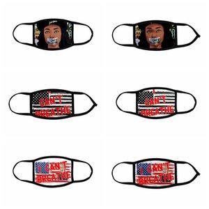 Я не могу дышать маску взрослых детей ледяной шелковый черный жизней материи Джордж Флойд Трамп США флаг моющийся многоразовый маска для лица ljja414