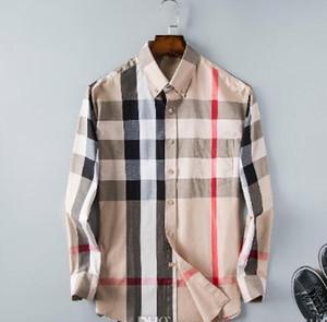 2018 negócios camisa casual homens dos homens Marca manga longa listrada Slim Fit Masculina sociais Camisetas masculinas novo homem moda camisa xadrez # 003