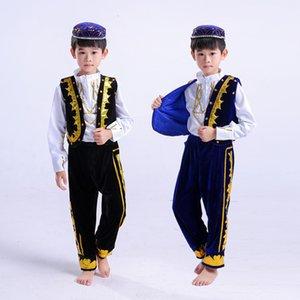 Children Hui Show Serve Ethnic Minority Uygur Ethnic Group Dance Performance Clothing All Promote Xinjiang Dance Clothing