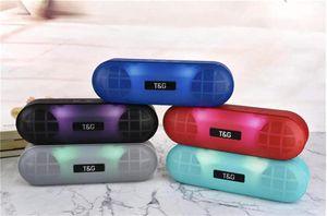 Stereo LED TG148 sem fio Bluetooth Speaker Surround 3D Baixo Subwoofer com microfone FM TFcard Aux portátil impermeável ao ar livre