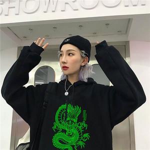 La alta calidad de invierno de lujo diseñador de los hombres con capucha zsiibo dragón impreso hip hop de moda con capucha dydhgmwy55 de los hombres de algodón con capucha y las mujeres