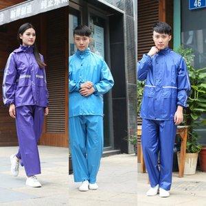 traje de una sola capa de una sola capa de trabajo dividida protección laboral para los hombres y las mujeres se dividió el trabajo impermeable al aire libre impermeable de protección laboral