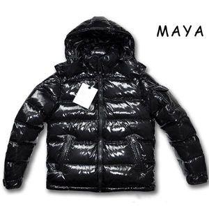 Casual Les hommes de haute qualité veste manteaux en duvet MAYA Mens Outdoor robe chaud de plumes Manteau d'hiver Homme outwear Vestes Parkas
