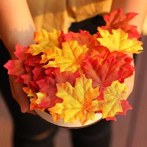 Inizio Decora 100 Pz assortiti caduta mista colorate artificiali foglie di acero per Matrimoni Eventi e Decorazione