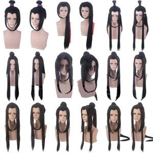 악마 재배 할로윈 합성 머리 웨이 Wuxian 란 Wangji Jiangcheng 가발 코스튬 모 다오 즈시 애니메이션 그랜드