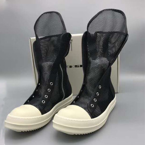 Women's Summer Boots Breathable Black Drkshow Boots Fashion Summer Shoes For Women 13#22 20d50