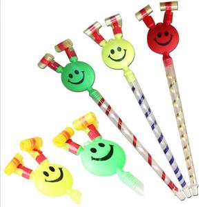 37 centímetros de comprimento, Sorrir, Festa de aniversário das crianças coloridas Whistles Crianças sopro do dragão Aniversário do bebê Blowout Suprimentos Brinquedos presentes quente