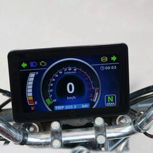 Motosiklet Tam Renkli LCD Ekran Çok Fonksiyonlu Gösterge Grubu Değiştirilebilir 12V Dijital Kilometre Ekran Talimat