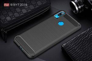 2019 DHL Free MobilePhone Cases Pour Huawei Y9 2019 Couverture Soft TPU Housse ajustée pour Huawei Y7 2019 Housse smartphone pour Huawei Nova4