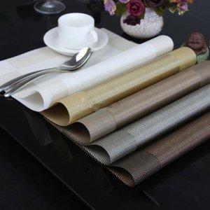 Tischsets Tischset 8 Farben Dekoration PVC Küche Tischsets Dinning Wasserdichte Tischdecke Großhandel