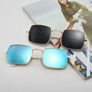 Homens quadro New Square Sunglasses metal Mulheres Designer 55 milímetros Óculos de sol Marca Eyewear 1971 com casos