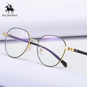 NO.ONEPAUL Goggles retro metallo trasparente UV400 Eyewear Nuovo Anti Blue Light Anti Blocking Filter vetri del calcolatore delle donne di moda