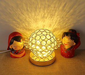 New Creative European Table Lamp LED Bedroom Crystal Bedside Lamp Warm Light Hotel Room Innovative Decorative Lamp