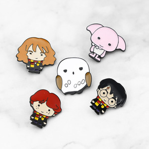 Move Jewelry Cartoon Character HP Potter Dobby Hermione Enamel pins Badges Lapel pins