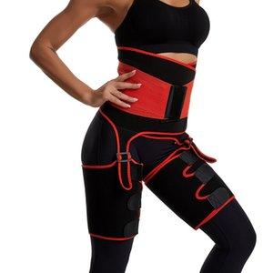 Pernas Siamese cinto perna de emagrecimento Shaper Warmer Magro Shaping Fat Belt queima Wraps HX01