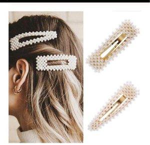 New Fashion Pearl Hair Clip for Women Elegant Korean Design Snap Barrette Stick Hairpin Hair Styling Accessories Hair Pins