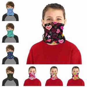 Enfants Visage Masque Masque de protection pour enfants en plein air Vélo écharpe magique Bandana Bandeau Neck Gaiter Balaclava Turban ZZA2376