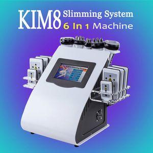 Modèle récent 6 IN 1 Ultrasons Cavitation machine à ultrasons 40k graisse Cavitation Remodelage du corps Lipolaser RF perte de poids Matériel d'amincissement