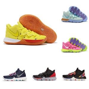 2020 Hot-Jungen-Mädchen-Kinderschuhe Kyrie V 5 All-Star-Basketball-Schuhe Irving 5S Jugend ZoomSpongeBob Sport Training Turnschuhe Hohe Ankle