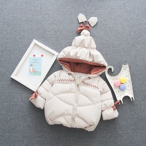 ملابس اطفال شتاء الرضع فتاة مقنع البدلة الدافئة طفل الاطفال القطن رشاقته معطف الوليد بنات سترة زيبر خارجية الحراري