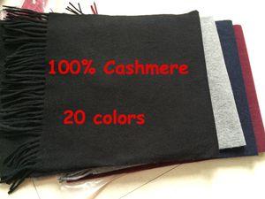 New 2018 Mode-Herbst-Winter Unisex Farbe Top 100% Kaschmir-Schal Männer und Frauen Cozy Big Size Tücher und Schals 15 Farben