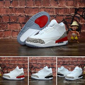 2019 enfants Chaussures de sport Chaussures de basket enfants J3 loup gris enfant en bas âge sneakers pour Sport J3 Garçon Fille Toddler Chaussures