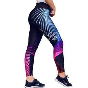 2019 приграничных новое AliExpress внешнеторговых цифровые печатные йоги спортивных штанов высокой талия бедро эластичного стрейч леггинсы