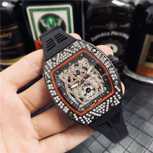 Crânio richard desporto Relógios de diamantes homens mulheres relógios de quartzo moda relógio incrustado de discagem perfurar Mens relógios de quartzo frete grátis