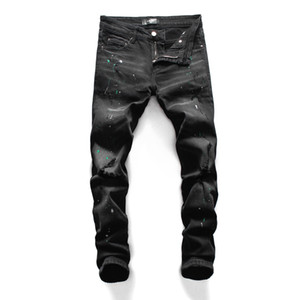 20SS neue Art und Weise Jeans-Marken-Entwerfer-Männer durchbohrten Jeans Designer Trend Herrenmode Tight Jeans vier Jahreszeiten Hosen 13264G31
