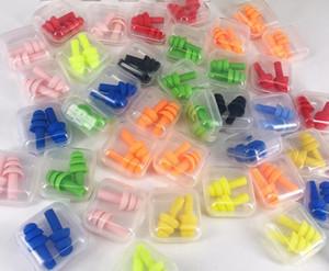 Venta caliente envío gratis silicona suave anti ruido tapones para los oídos tapones para los oídos impermeables para nadar / viajar / dormir