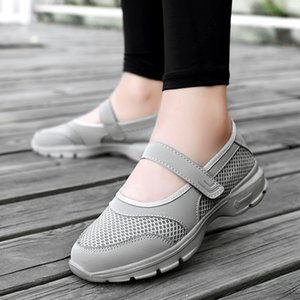 Walking Shoes respirabile di estate Donne Sneakers sani Outdoor Mesh antiscivolo Sport Scarpe da tennis Madre regalo Comfort Light Flats
