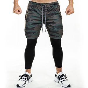 Спортивные штаны для бега Мужские шорты и леггинсы 2 в 1 Спортивная одежда Тренажерный зал Фитнес Спортивные брюки Леггинсы Crossfit Jogger Тренировочная одежда