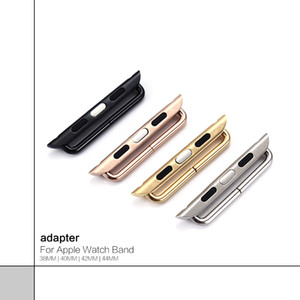 1 par adaptador DIY Correa de reloj para Apple Watch Band 38mm 40mm 42mm 44mm Para iWatch Series 1 2 3 4 Adaptador de correa Conector 2 piezas al por mayor