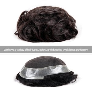 TKWIG Company 100% Human Hair Full Swiss Lace men's toupees hair wig for men free sample